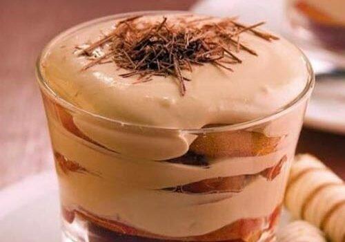 кофейно творожный десерт